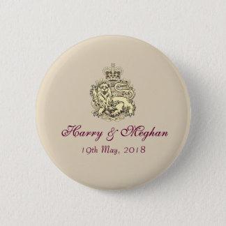 Insignias reales de Harry que se casan y del botón