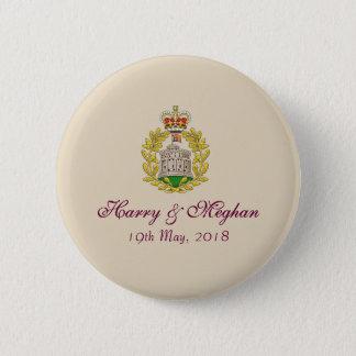 Insignias reales del botón de Harry y del boda de