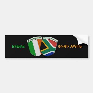 Insignias surafricanas y irlandesas de la amistad  etiqueta de parachoque