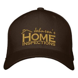 Inspecciones caseras bordadas gorras de béisbol bordadas