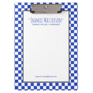 Inspector azul personalizado carpeta de pinza