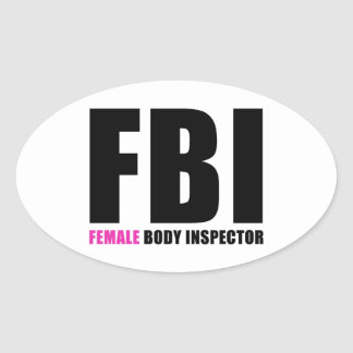 Inspector del cuerpo femenino del FBI Pegatina Ovalada