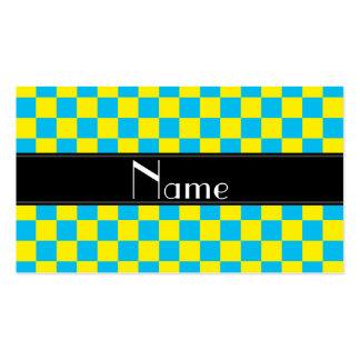 Inspectores amarillos y azules conocidos tarjetas de visita