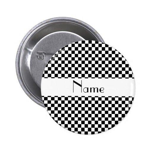 Inspectores blancos y negros conocidos personaliza pins