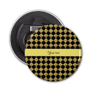 Inspectores negros y amarillos elegantes del abrebotellas