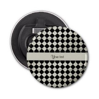 Inspectores negros y de plata elegantes del brillo abrebotellas