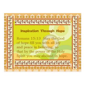 Inspiración con esperanza postal