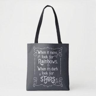 Inspiración cuando llueve y la bolsa de asas