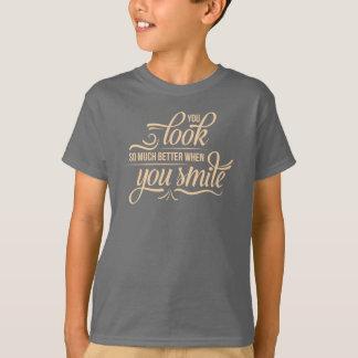 Inspirado mejor cuando usted camisa de la sonrisa