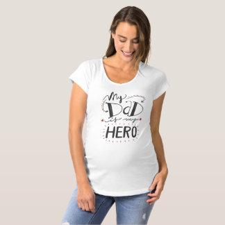 Inspirado mi papá es mi camisa de maternidad del