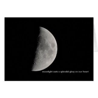Inspirado por la luna tarjeta de felicitación