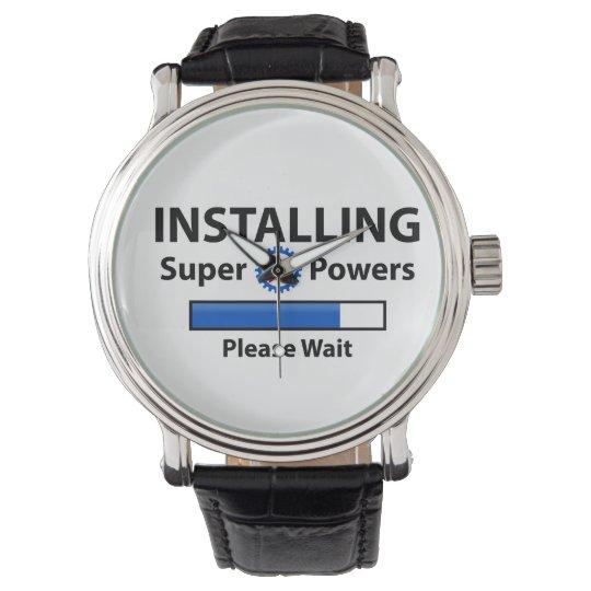 INSTALACIÓN de superpoderes Reloj De Pulsera