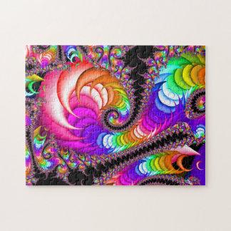 Instinto espiral del fractal puzzle
