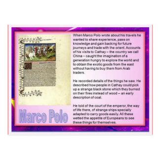 Instrucción escritura del viaje Marco Polo Tarjeta Postal