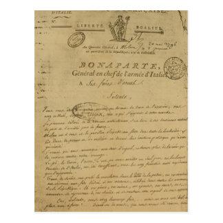 Instrucciones a los soldados publicados por postal