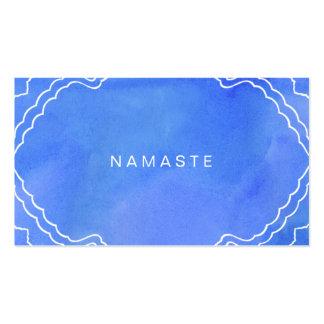 Instructor azul de la yoga de Namaste de la Tarjetas De Visita
