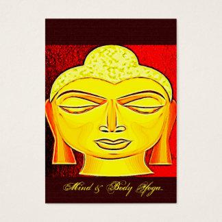 Instructor budista de la YOGA del arte popular de Tarjeta De Negocios