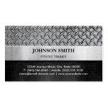 Instructor de la aptitud - placa de metal del plantillas de tarjeta de negocio