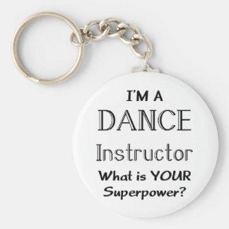 Instructor de la danza llavero redondo tipo chapa