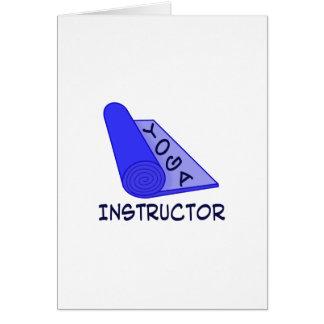 Instructor de la yoga tarjeta de felicitación