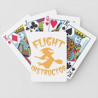 Instructor del vuelo en bruja anaranjada del vuelo baraja cartas de poker