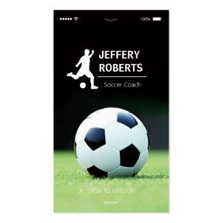Instructor elegante y único del fútbol del coche tarjetas de visita