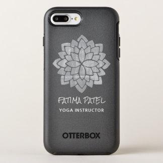 Instructor moderno floral de la yoga de la mandala funda OtterBox symmetry para iPhone 8 plus/7 plus