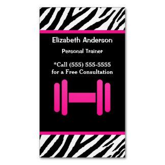 Instructor personal de moda de la pesa de gimnasia tarjeta de visita magnética