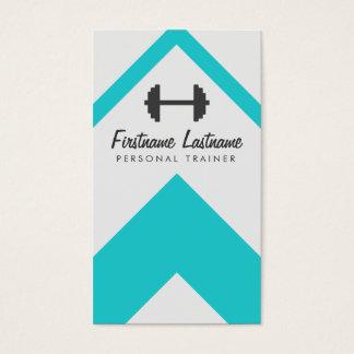 Instructor personal moderno y aptitud tarjeta de negocios