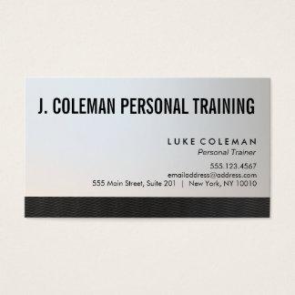 Instructor personal negro y de plata fresco 2 tarjeta de negocios