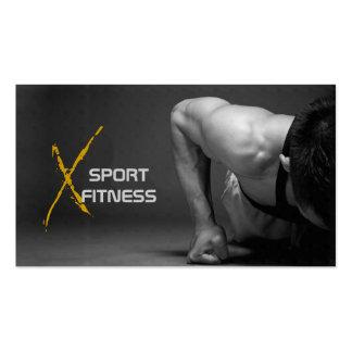 Tarjetas de visita para el mundo del fitness y el deporte