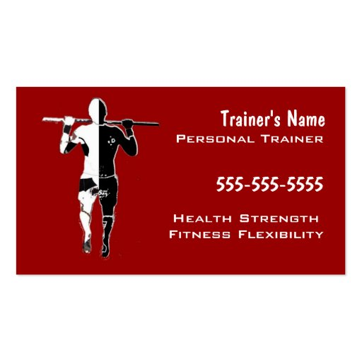Instructor personal plantillas de tarjetas personales
