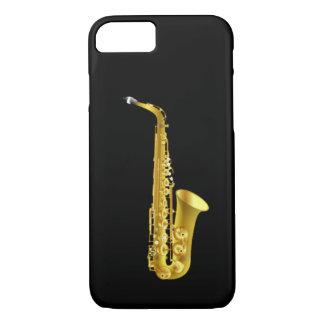 Instrumento de música de cobre amarillo del funda iPhone 7