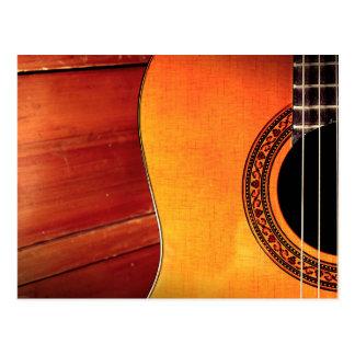 Instrumento musical acústico de la guitarra postal