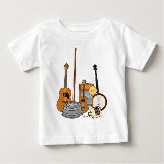 Instrumentos de la banda de jarro camiseta de bebé
