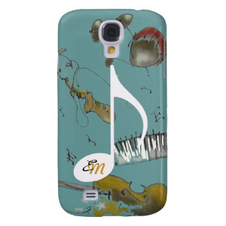 instrumentos de la nota musical y de música funda para galaxy s4