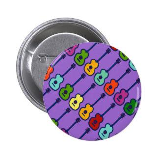 instrumentos de música coloridos chapa redonda de 5 cm