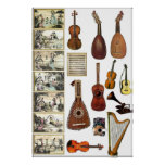 Instrumentos musicales impresiones