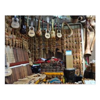 Instrumentos musicales - Machu Picchu - Perú Tarjeta Postal