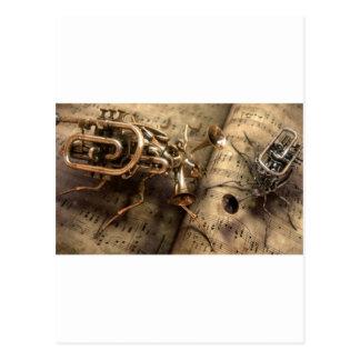 Instrumentos musicales. tarjeta postal