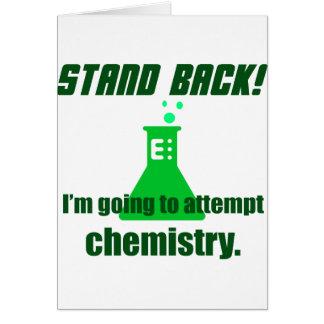 Intentar química tarjeta