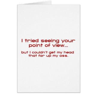 Intenté ver su Point of View - pero no podría Tarjeta De Felicitación