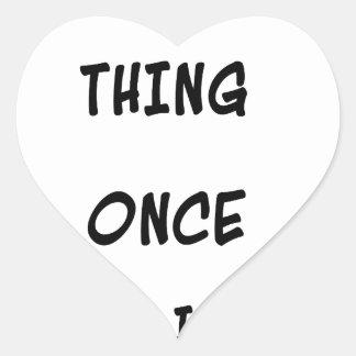 Intento cualquier cosa una vez dos veces si tengo pegatina en forma de corazón