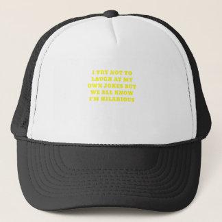 Intento no reírme de mis propios chistes pero gorra de camionero