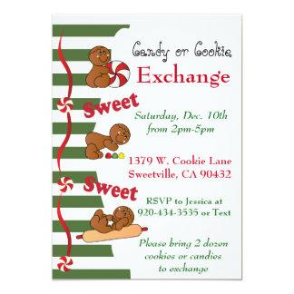 Intercambio de la galleta o del caramelo del pan invitación 12,7 x 17,8 cm