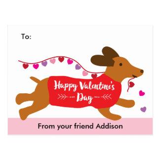 Intercambio de la tarjeta del día de San Valentín