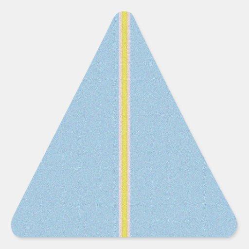 Interferencia reconstruida UNA Calcomania Triangulo Personalizadas