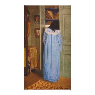 Intérieur, armoir fouillant del une de los dans de impresión en lona estirada