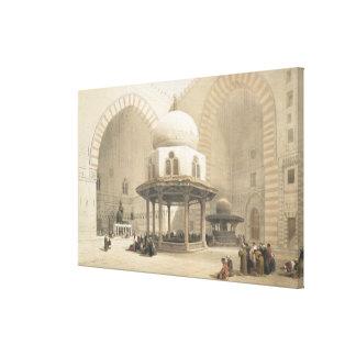 Interior de la mezquita del EL Ghoree, Ca del sult Impresión En Lienzo