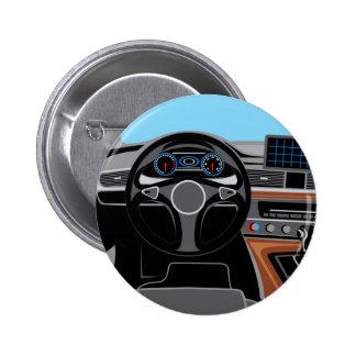 Interior del automóvil chapa redonda de 5 cm
